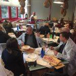 In degustazione con clienti presso il Prosciuttificio Ghirardi Onesto